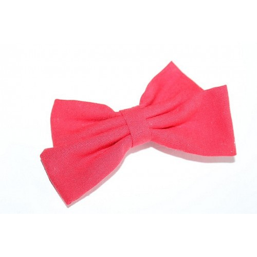BARRETTE NOEUD DOUBLE UNI ROUGE