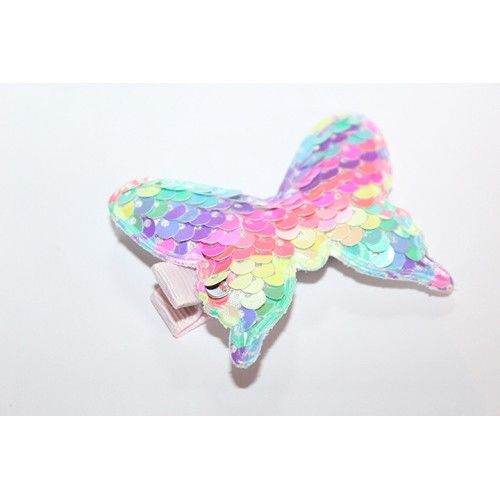 BARRETTES CROCO PAPILLON